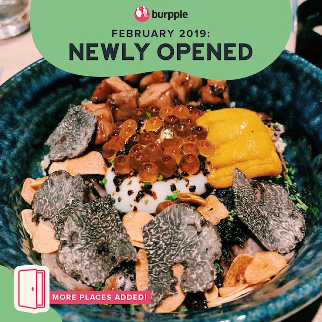 New Restaurants, Cafes & Bars in Singapore: February 2019