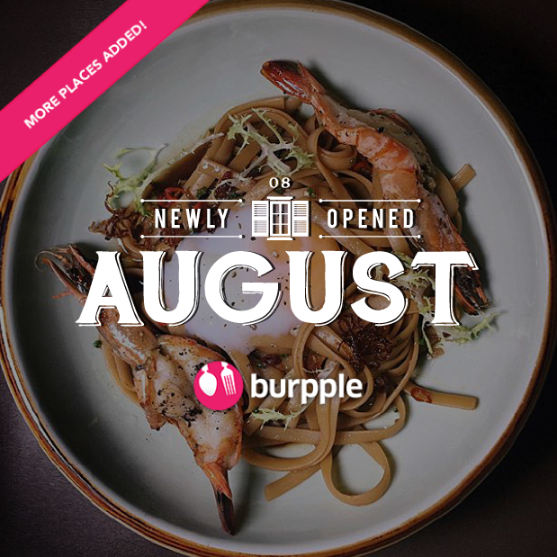 New Restaurants, Cafes and Bars in Singapore: August 2016