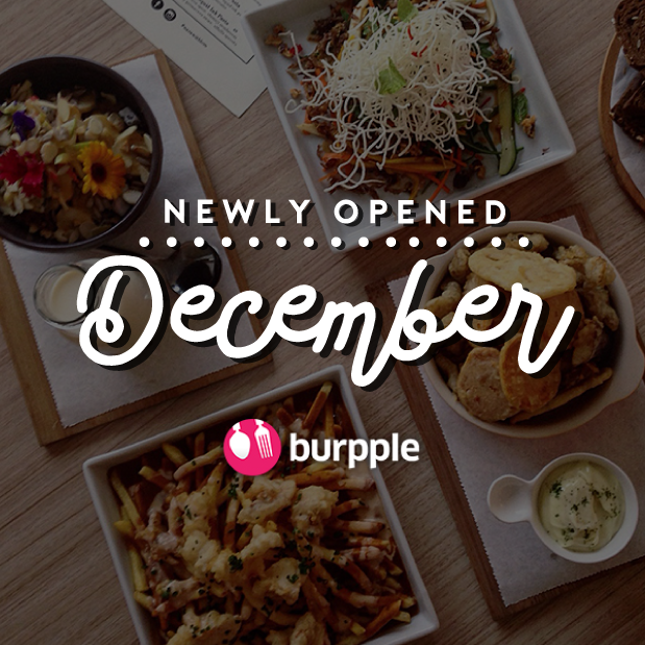 New Restaurants, Cafés And Bars in KL: December 2016