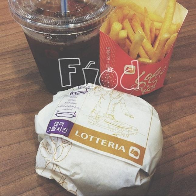 #dinner at Korea's Fast Food Restaurant.