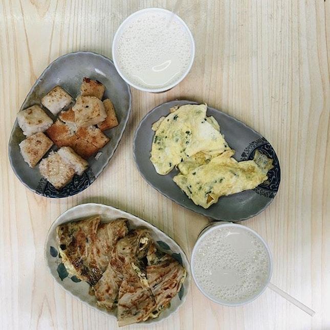 Traditional Taiwanese breakfast.