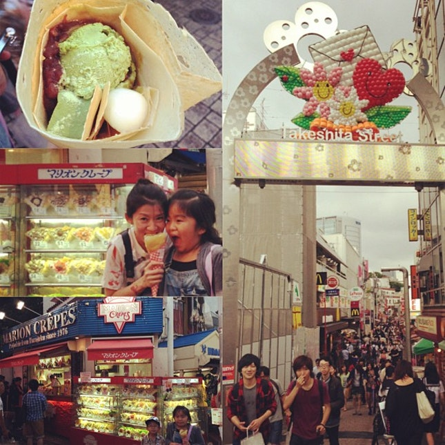 #hanakhoinjapan2013 #harajuku #japan #foodporn #crepes #japanesefood #dessert #diediemusteat #shiok