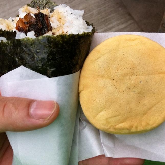 鰻魚手卷+紅豆餅