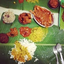 Banana leaf mess.