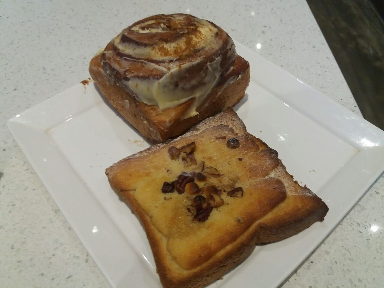 White Chocolate Bostock & Cinnamom Bun