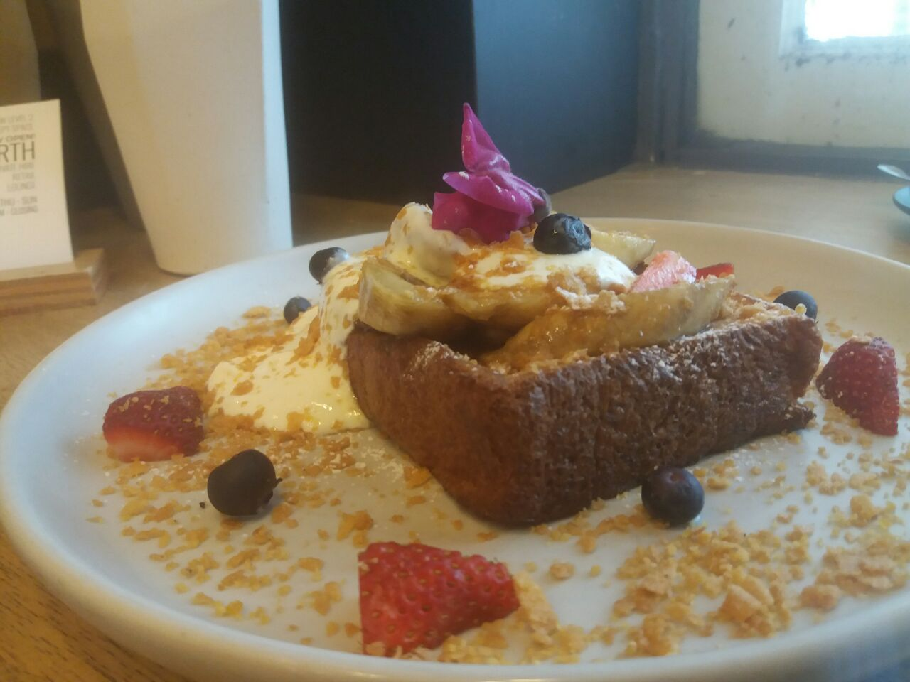 Banana Rum French Toast ($20)