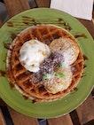 Nyonya Cendol waffle