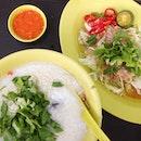 Porridge With Raw Fish Salad