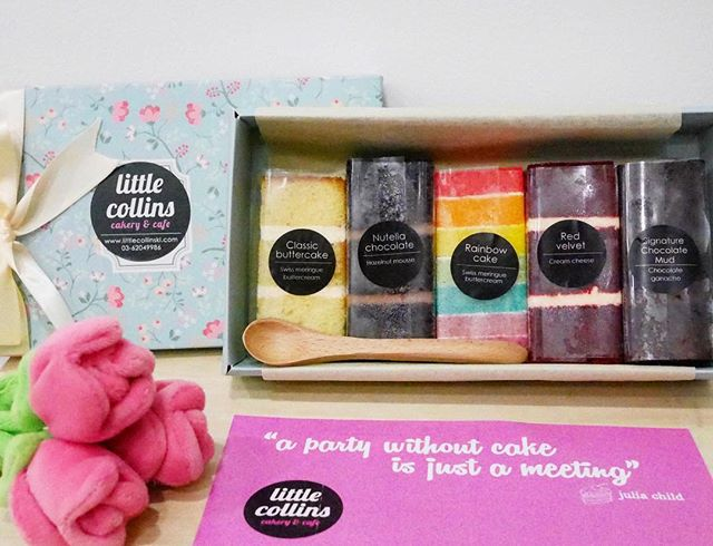 A box of Happiness   Thanks @burpplekl & @littlecollinskl for this box of lovely cakes.