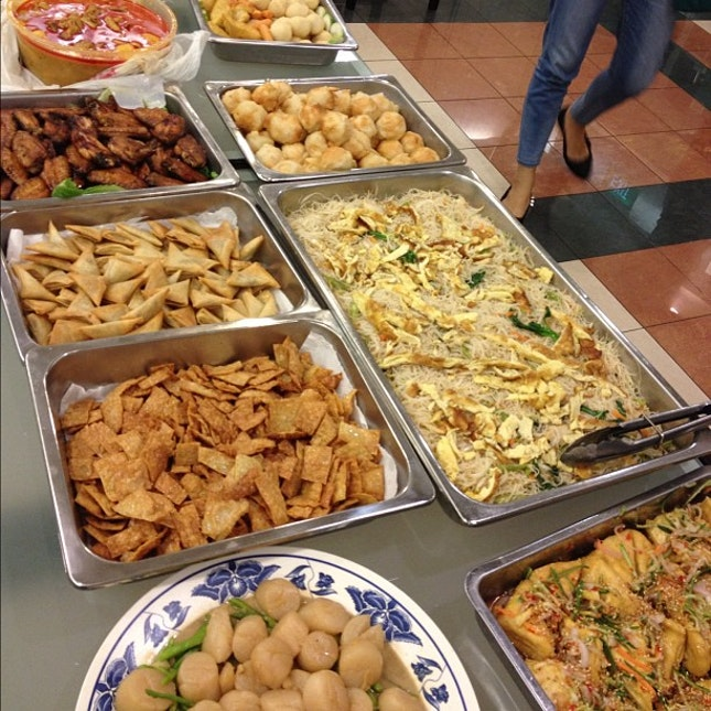 Home cooked buffet spread for the party!