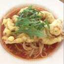 Softshell Crab Cioppino Spaghetti