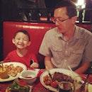 Good dinner for Chris and my hubby❤🍷🍤👪#theship#dinner#sunday