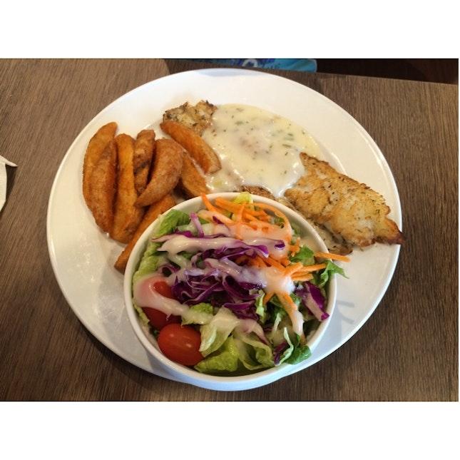 Grilled Fish Fillet Meal