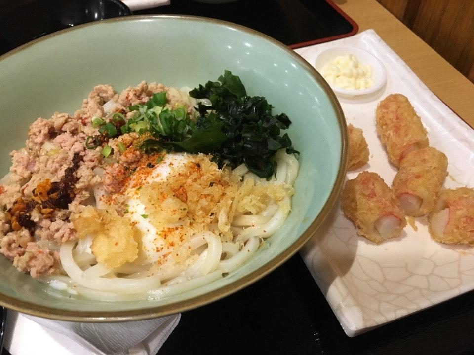 Garlic Chicken Maze Udon