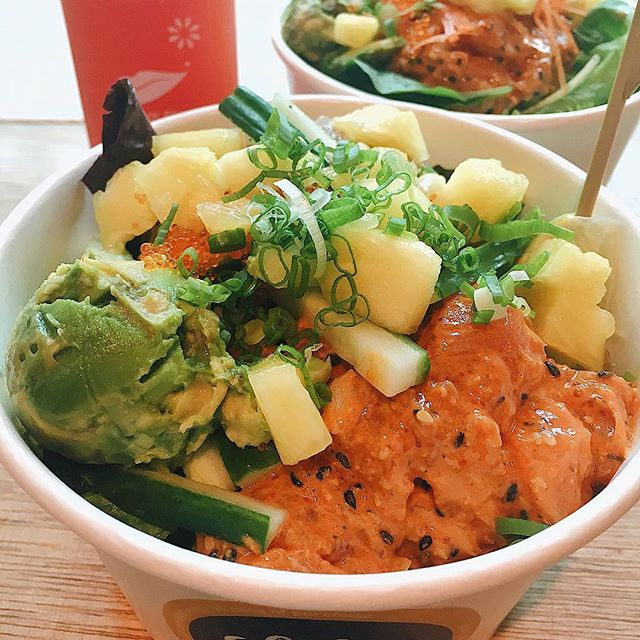 """Standard Nalu ($15.90): chose this """"medium"""" bowl which comes with two scoops of poke (vs Lil' Swell which only had one) because I couldn't bring myself to choose between salmon and tuna."""
