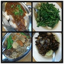 Dinner tonight :D #yummy #fish #vegetable #pork #delicious #with #le #family