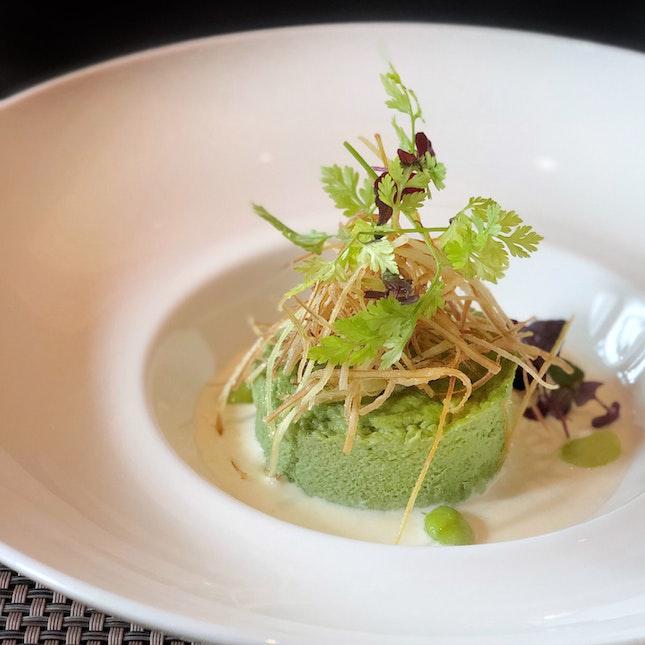 Egg & Green Tea Flan (Ala Carte: $14, 4-course Set Menu: $88)