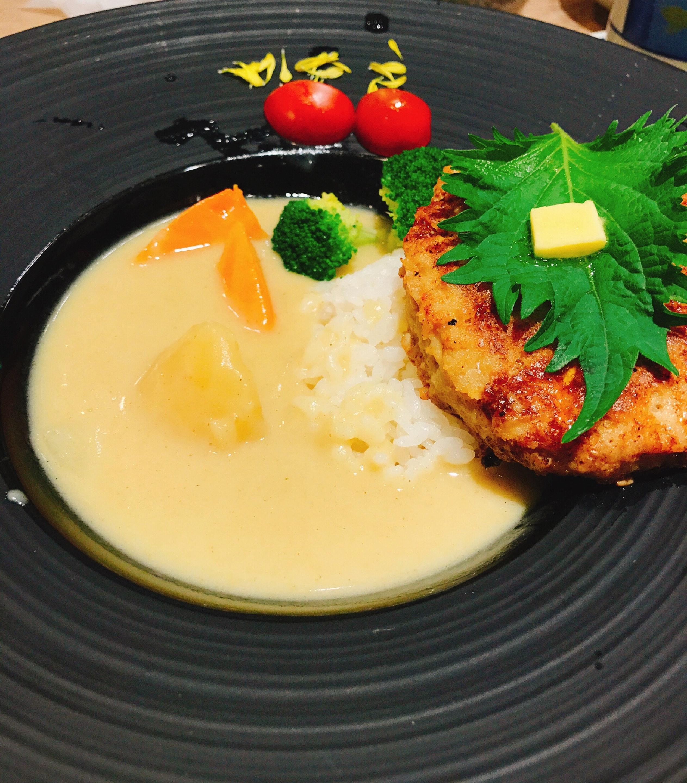 Japanese Style Hamburg White Curry