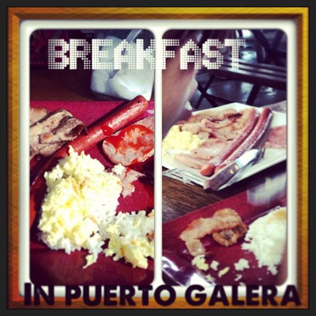 #instacollage #puertogalera #breakfast #yummy