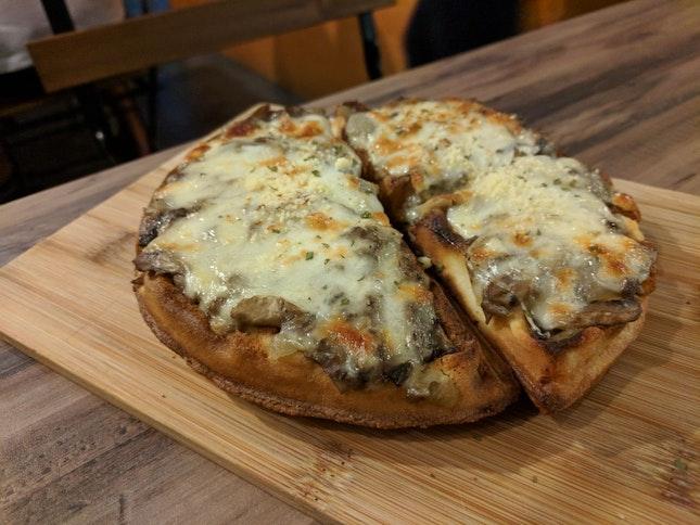 Mushroom Cheese Waffle ($12)