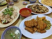 Hainanese Chicken Rice, Pork Chop, Chap Chye