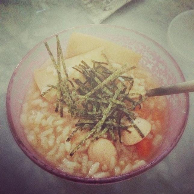 my abalone porridge!