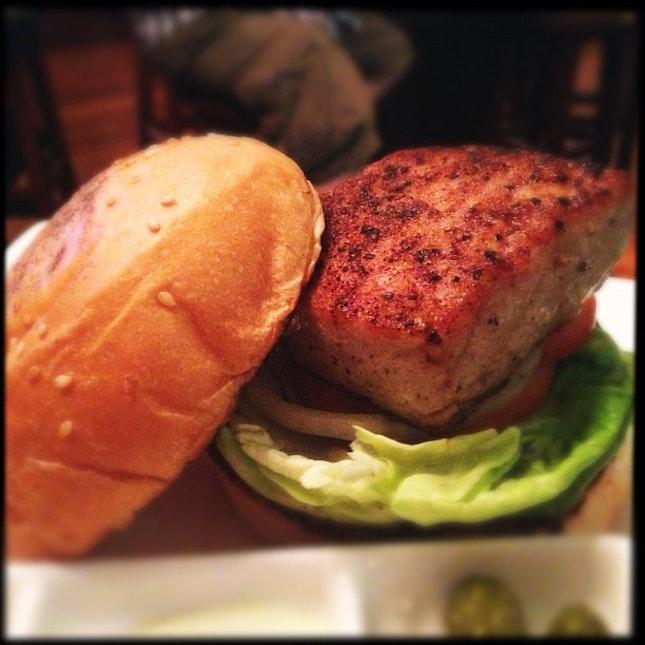 tuna burger.