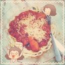 🍝肉丸红酱意大利面大派送🍝 #homemade #spaghetti #bolognaise #meatball #cheesesausage #sausage #cheese #tomatoes #herbs #food #foodie #dinner #supper #igfood #iglife #igmsia #instafood #instalife #instamsia #linecamera