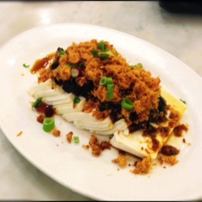 Cold Tofu With Century Egg And Chicken Floss