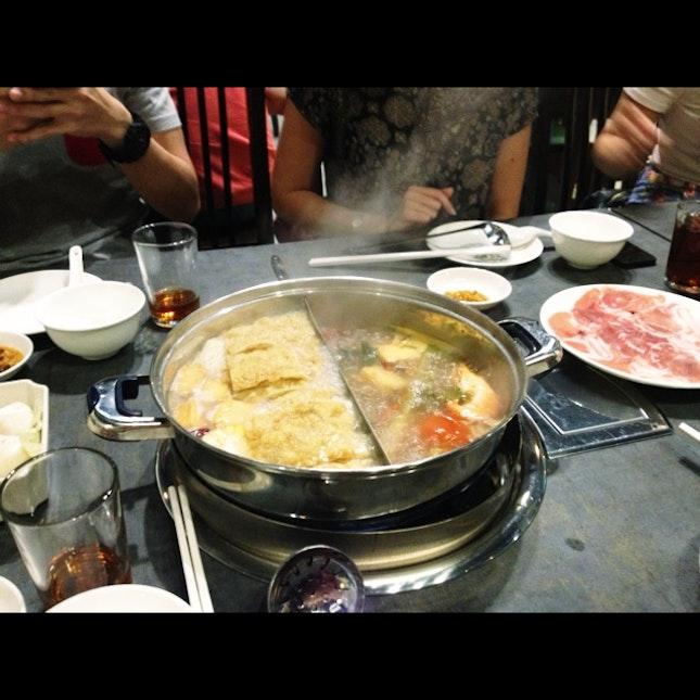 Pork/Tom Yam Steamboat