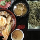 Dinner and movie with the gor #tendon #tempura #soba #chasoba #chawanmushi #tensho Not bad, despite the restaurant being completely empty on a Mon night.