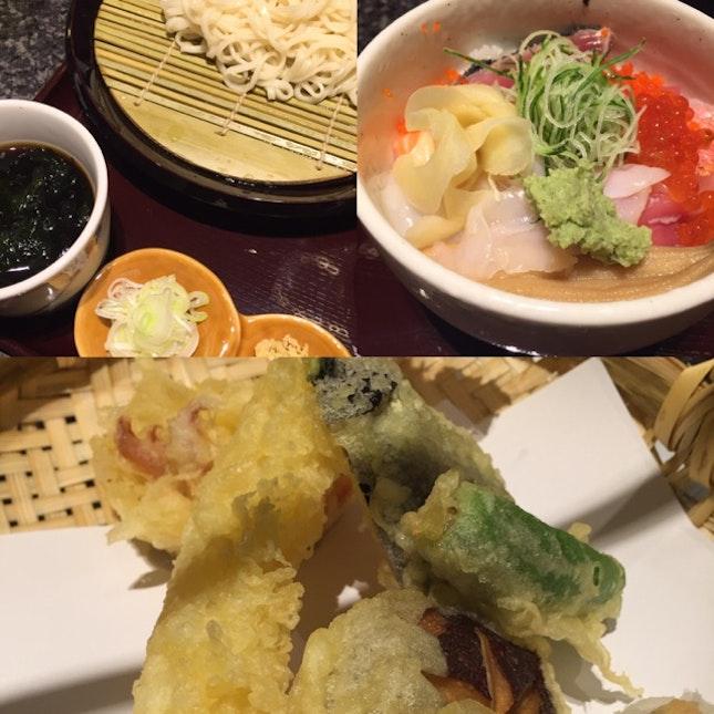 Udon + Tempura + Donburi