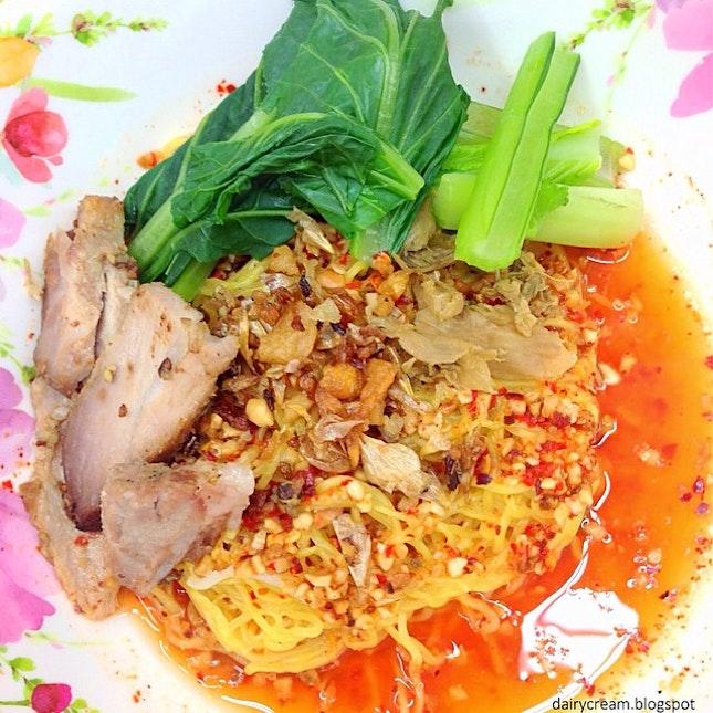 Thai Tom Yam Wanton Mee Dry.