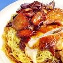 Soya Sauce Chkn & Char Siew Noodles!!