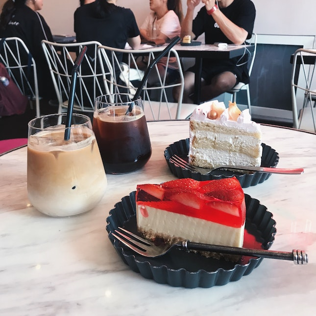 Strawberry Tofu Cheesecake & Lychee Rose Cake