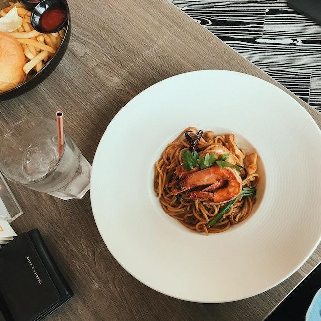 Seafood Kung Pao pasta ($18.90) in NTU