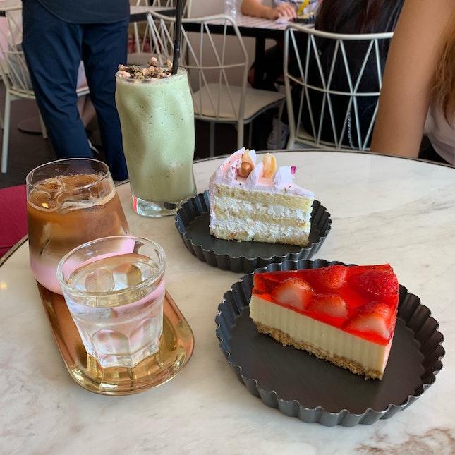Rose Latte & Matcha Honey Yuzu Ice Blended