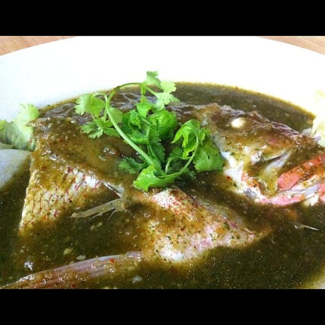 Garlic infused Signature Fish Head #sgfood #livetoeat