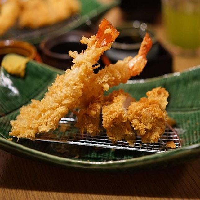 Shrimp & Tonkatsu Fillet at Tonkatsu Agedoki.