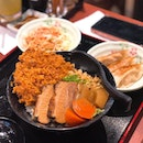 Sis took a gamble with the Tonkatsu and Tonkusei Don Set and was rewarded with well-executed, juicy fried pork cutlet, supremely tender, thick pork slices with springy bits of soft bone, and a side of lunch envy (courtesy of me).
