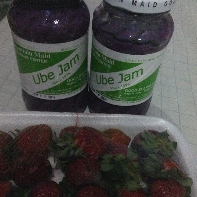 #ubejam #goodshepherd #strawberry #pasalubong #fr.bebegirl #yummy