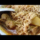 Curry Pork Ribs With Instant Noodles