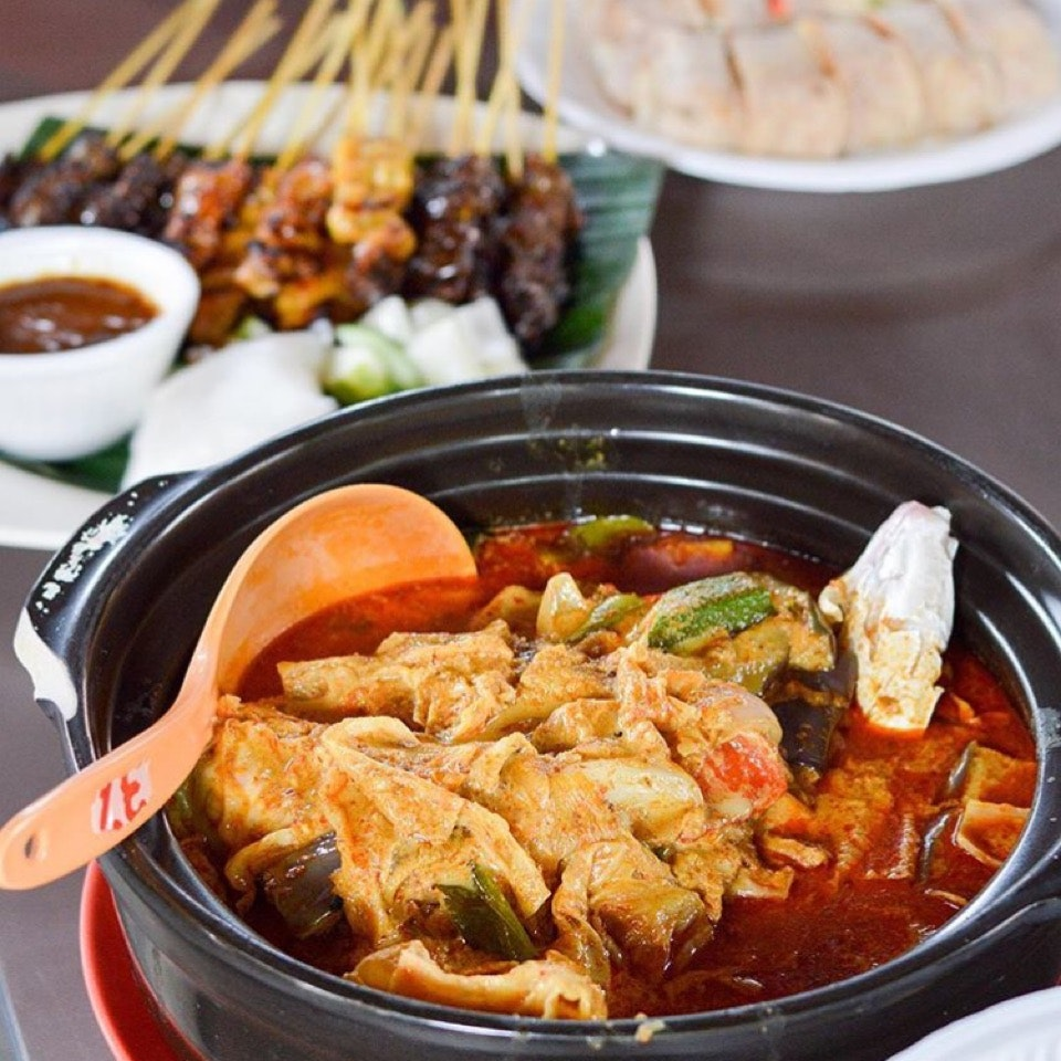 Fish Head Curry And Satay
