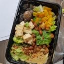 Avocadoes and Hummus Salad