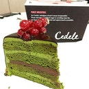 Purely irresistible - matcha chocolate cake from Cedele