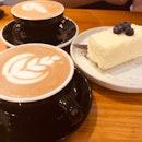 Mocha + White Coffee + Double Cheesecake