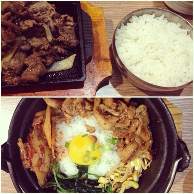 Beef Bulgogi And Chicken Bibimbap
