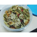 Aglio Olio Vegetoni pasta with grilled chicken #lunch #eatclean #eatgreen #vscocam