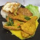 Salted Egg Pork Chop Rice $8.9