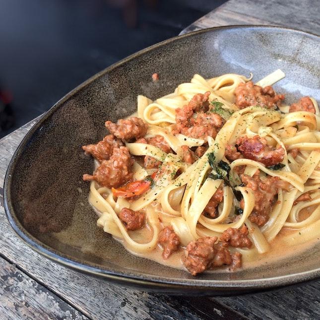 Tagliatelle Lamb Salsiccia $20